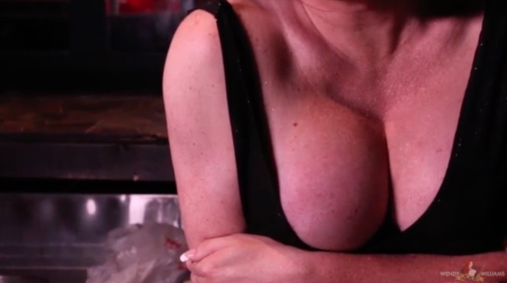 Wendy seduces tit worshippers by caressing and playing with her